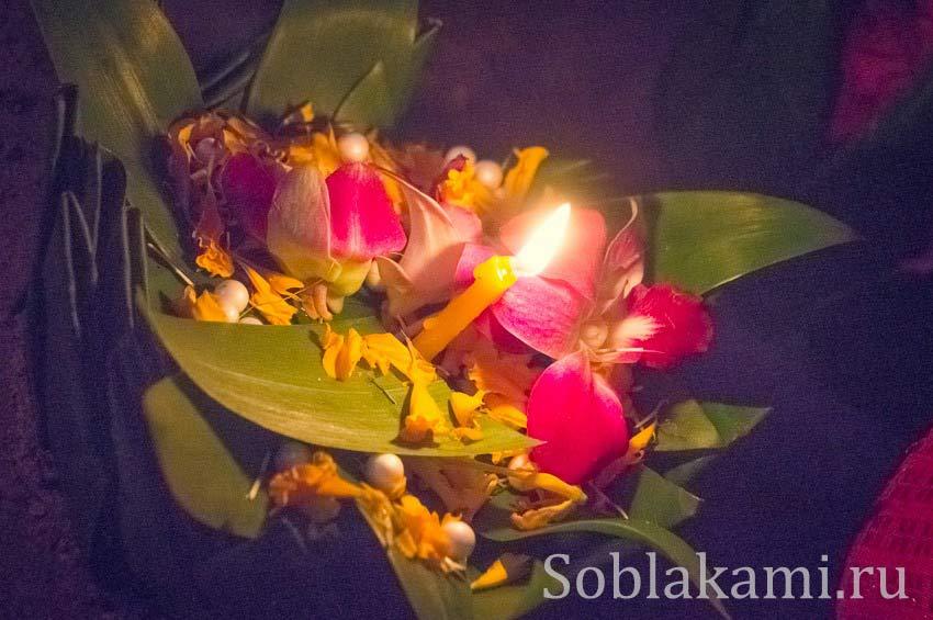 Лои Кратонг в Ао Нанге 2013: цветочные лодки и небесные фонарики