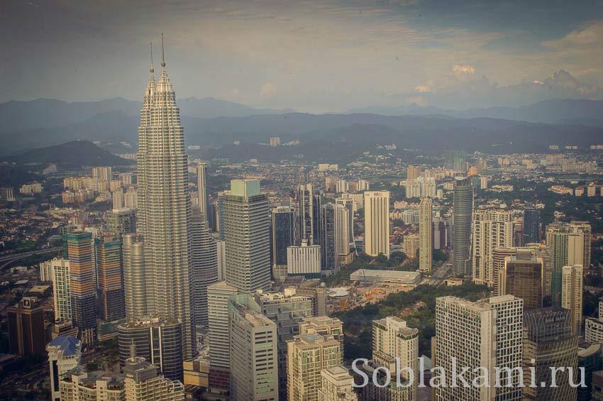 Башня Менара: Куала-Лумпур с высоты птичьего полета
