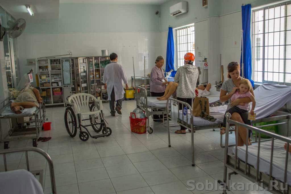 Аринка заболела: больницы в Вунгтау