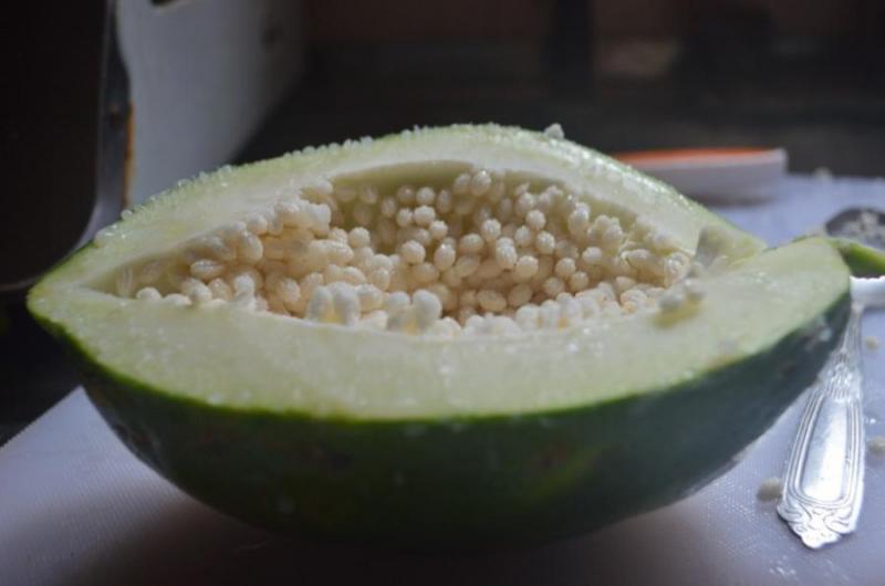 азиатские овощи, зеленая папайя